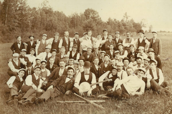 Moose Club - Irish Group Photo from The Manchester Millyard Museum's Immigrant Exhibit.