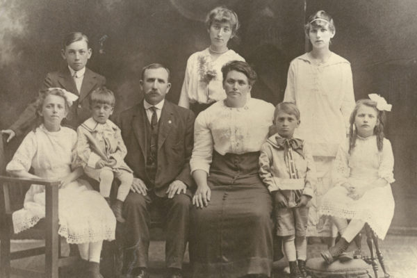 The Shea Family - Irish Group Photo from The Manchester Millyard Museum's Immigrant Exhibit.